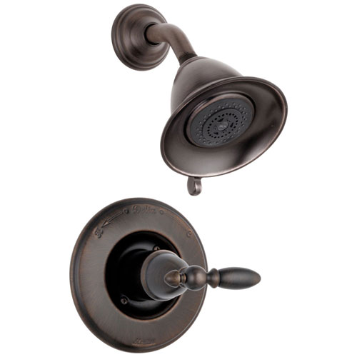 Delta Traditional Victorian Venetian Bronze Finish 14 Series Shower Only Faucet INCLUDES Rough-in Valve with Stops and Single Lever Handle D1199V