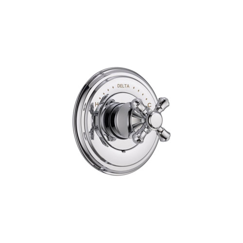 Delta Cassidy Monitor 14 Series Chrome Finish Pressure Balanced Shower Faucet Control INCLUDES Rough-in Valve and Single Cross Handle D1250V