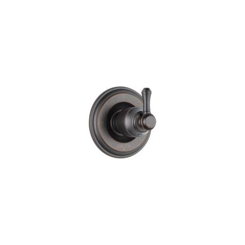 Delta Cassidy Venetian Bronze Finish 3-Setting 2-Port Shower Diverter Fixture INCLUDES Rough-in Valve and Single Lever Handle D1292V