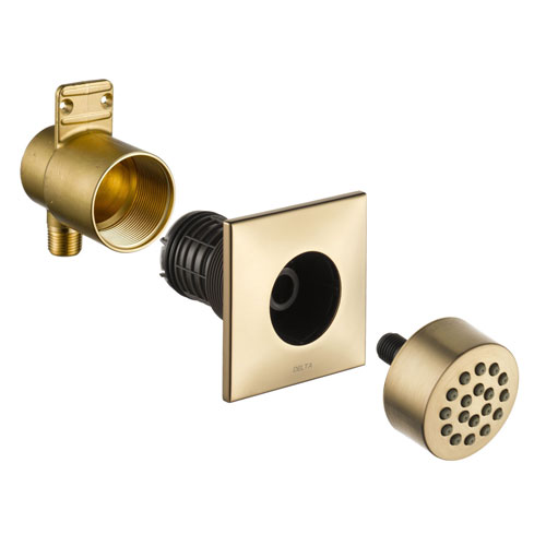 Delta Champagne Bronze Finish HydraChoice Touch Clean Square Shower System Body Spray COMPLETE Includes Valve, Trim, and Spray D1366V