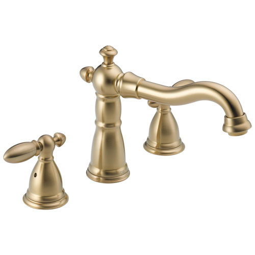 Delta Victorian Collection Champagne Bronze Finish Traditional Roman Tub Filler Faucet COMPLETE ITEM Includes (2) Lever Handles and Rough-in Valve D1463V