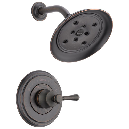 Delta Cassidy Collection Venetian Bronze Monitor 14 H2Okinetic Shower only Faucet INCLUDES Single Lever Handle and Rough-Valve without Stops D1534V