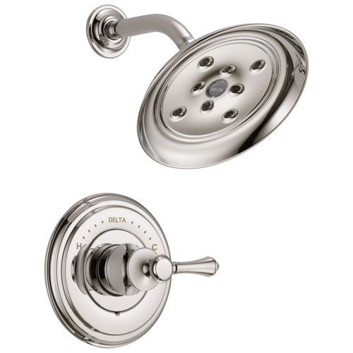 Delta Cassidy Collection Polished Nickel Monitor 14 H2Okinetic Shower only Faucet INCLUDES Single Lever Handle and Rough-Valve with Stops D1540V