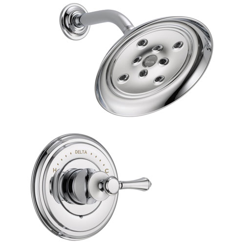 Delta Cassidy Collection Chrome Monitor 14 Series H2Okinetic Shower only Faucet INCLUDES Single Lever Handle and Rough-Valve with Stops D1547V