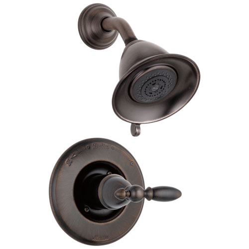 Delta Victorian Collection Venetian Bronze Traditional Style Monitor 14 Shower Faucet INCLUDES Single Lever Handle and Rough-Valve with Stops D1558V