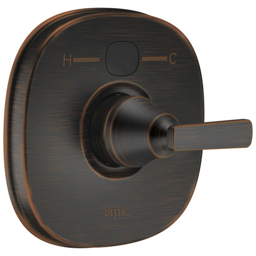 Delta Venetian Bronze Ashlyn Collection Transitional 14 Series Digital Display Temp2O Shower Valve Control INCLUDES Single Handle and Valve without Stops D1622V
