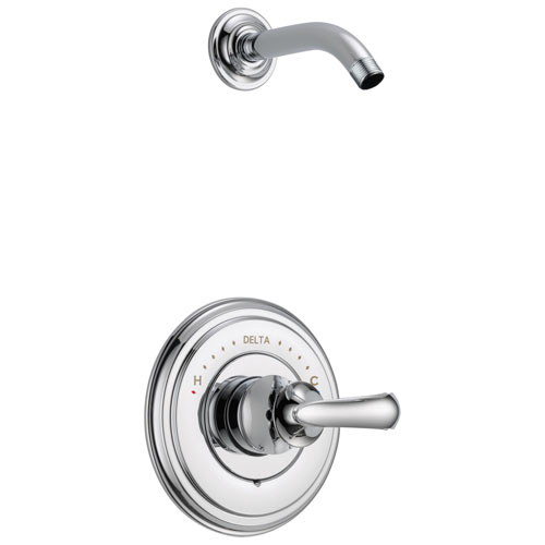Delta Cassidy Collection Chrome Monitor 14 Shower only Faucet - Less Showerhead INCLUDES Single French Curve Lever Handle and Rough-in Valve without Stops D1834V