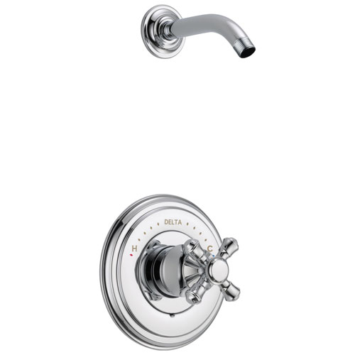 Delta Cassidy Collection Chrome Monitor 14 Shower only Faucet - Less Showerhead INCLUDES Single Cross Handle and Rough-in Valve with Stops D1835V