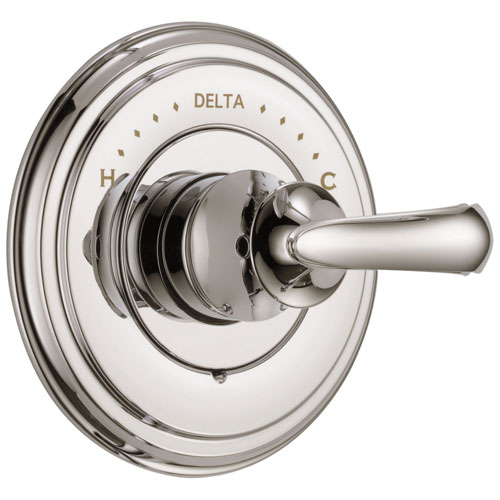 delta cassidy collection polished nickel monitor 14 series shower valve control only includes single french scroll
