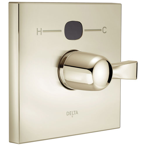 Delta Polished Nickel Dryden 14 Series Temp2O Square Electronic Shower Faucet Valve Only Control INCLUDES Single Lever Handle and Valve with Stops D1881V