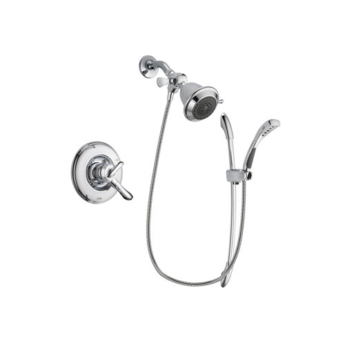 Delta Linden Chrome Finish Dual Control Shower Faucet System Package with Shower Head and Handheld Shower with Slide Bar Includes Rough-in Valve DSP0456V