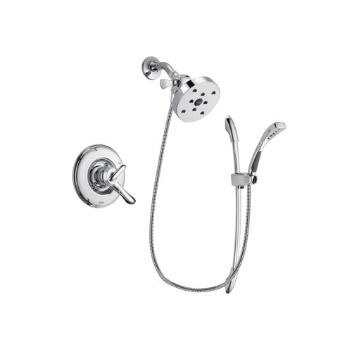 Delta Linden Chrome Finish Dual Control Shower Faucet System Package with 5-1/2 inch Shower Head and Handheld Shower with Slide Bar Includes Rough-in Valve DSP0558V