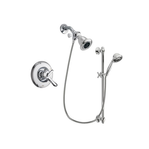 Delta Linden Chrome Finish Dual Control Shower Faucet System Package with Water Efficient Showerhead and 7-Spray Handheld Shower Sprayer with Slide Bar Includes Rough-in Valve DSP0626V