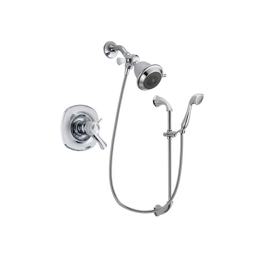 Delta Addison Chrome Finish Thermostatic Shower Faucet System Package with Shower Head and Handheld Shower with Slide Bar Includes Rough-in Valve DSP0840V