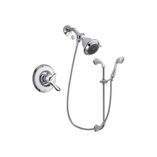 Delta Linden Chrome Finish Dual Control Shower Faucet System Package with Shower Head and Handheld Shower with Slide Bar Includes Rough-in Valve DSP0864V