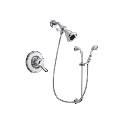 Delta Linden Chrome Finish Dual Control Shower Faucet System Package with Water Efficient Showerhead and Handheld Shower with Slide Bar Includes Rough-in Valve DSP0898V