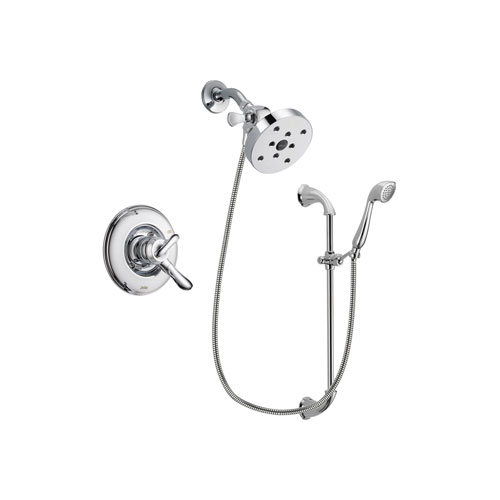 Delta Linden Chrome Finish Dual Control Shower Faucet System Package with 5-1/2 inch Shower Head and Handheld Shower with Slide Bar Includes Rough-in Valve DSP0966V