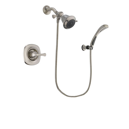 Delta Addison Stainless Steel Finish Shower Faucet System Package with Shower Head and Wall Mounted Handshower Includes Rough-in Valve DSP1802V