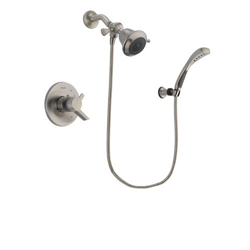 Delta Compel Stainless Steel Finish Dual Control Shower Faucet System Package with Shower Head and Wall Mounted Handshower Includes Rough-in Valve DSP1810V