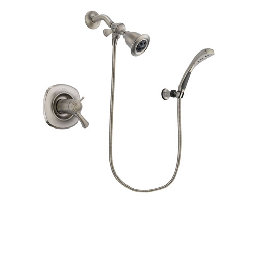 Delta Addison Stainless Steel Finish Thermostatic Shower Faucet System Package with Water Efficient Showerhead and Wall Mounted Handshower Includes Rough-in Valve DSP1826V