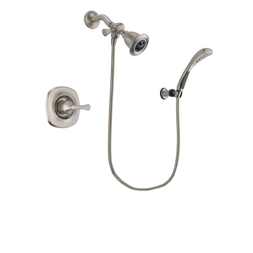 Delta Addison Stainless Steel Finish Shower Faucet System Package with Water Efficient Showerhead and Wall Mounted Handshower Includes Rough-in Valve DSP1836V