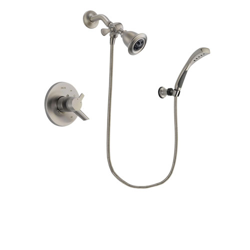 Delta Compel Stainless Steel Finish Dual Control Shower Faucet System Package with Water Efficient Showerhead and Wall Mounted Handshower Includes Rough-in Valve DSP1844V