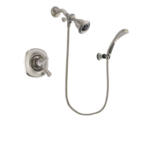 Delta Addison Stainless Steel Finish Dual Control Shower Faucet System Package with Water Efficient Showerhead and Wall Mounted Handshower Includes Rough-in Valve DSP1848V