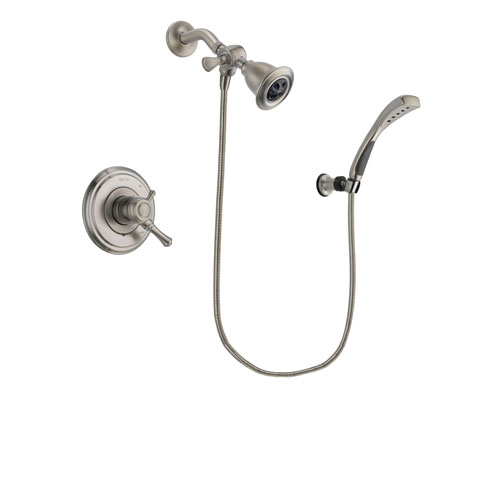 Delta Cassidy Stainless Steel Finish Dual Control Shower Faucet System Package with Water Efficient Showerhead and Wall Mounted Handshower Includes Rough-in Valve DSP1852V