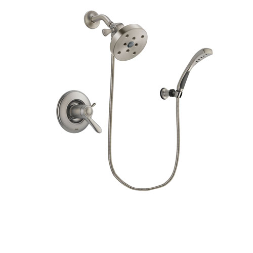 Delta Lahara Stainless Steel Finish Thermostatic Shower Faucet System Package with 5-1/2 inch Shower Head and Wall Mounted Handshower Includes Rough-in Valve DSP1888V