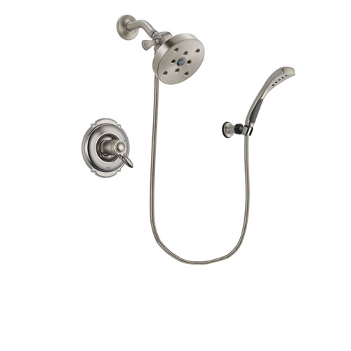 Delta Victorian Stainless Steel Finish Thermostatic Shower Faucet System Package with 5-1/2 inch Shower Head and Wall Mounted Handshower Includes Rough-in Valve DSP1890V
