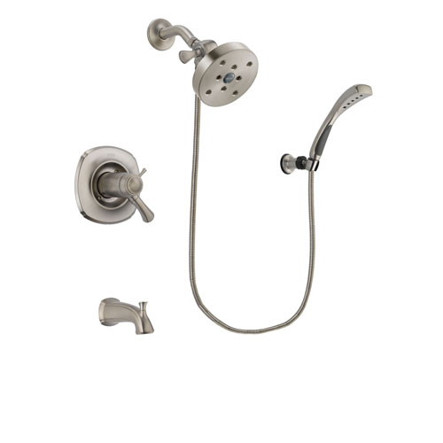 Delta Addison Stainless Steel Finish Thermostatic Tub and Shower Faucet System Package with 5-1/2 inch Shower Head and Wall Mounted Handshower Includes Rough-in Valve and Tub Spout DSP1893V