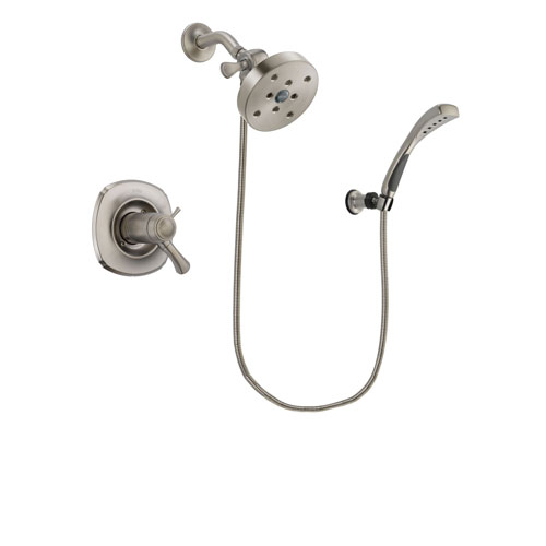 Delta Addison Stainless Steel Finish Thermostatic Shower Faucet System Package with 5-1/2 inch Shower Head and Wall Mounted Handshower Includes Rough-in Valve DSP1894V