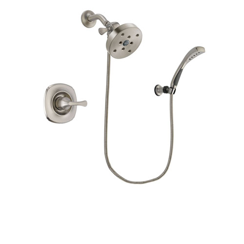 Delta Addison Stainless Steel Finish Shower Faucet System Package with 5-1/2 inch Shower Head and Wall Mounted Handshower Includes Rough-in Valve DSP1904V