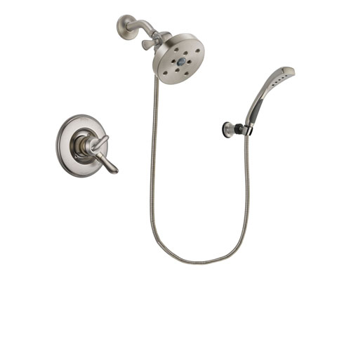 Delta Linden Stainless Steel Finish Dual Control Shower Faucet System Package with 5-1/2 inch Shower Head and Wall Mounted Handshower Includes Rough-in Valve DSP1918V