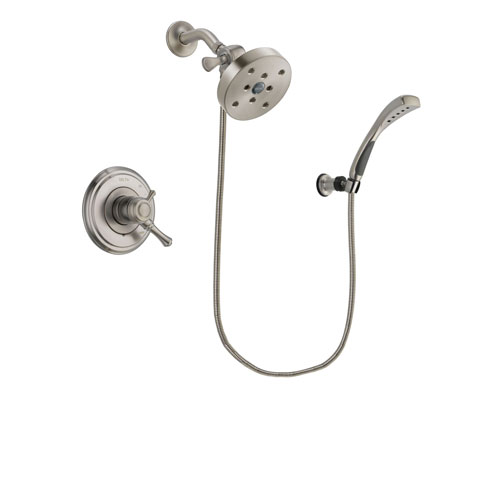 Delta Cassidy Stainless Steel Finish Dual Control Shower Faucet System Package with 5-1/2 inch Shower Head and Wall Mounted Handshower Includes Rough-in Valve DSP1920V