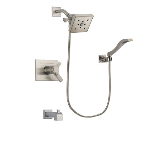 Delta Vero Stainless Steel Finish Tub And Shower System