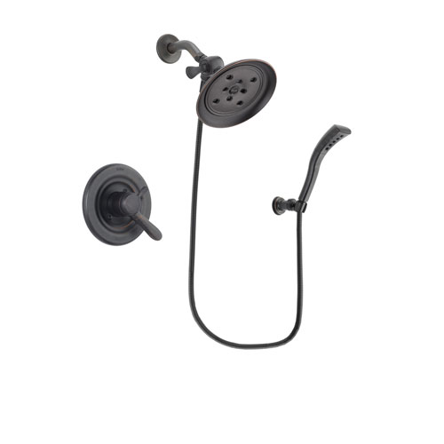 Delta Lahara Venetian Bronze Finish Dual Control Shower Faucet System Package with Large Rain Shower Head and Modern Wall Mount Personal Handheld Shower Spray Includes Rough-in Valve DSP2940V