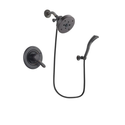 Delta Lahara Venetian Bronze Finish Dual Control Shower Faucet System Package with 5-1/2 inch Showerhead and Modern Wall Mount Personal Handheld Shower Spray Includes Rough-in Valve DSP2970V