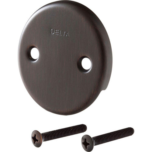 Delta Classic Collection Overflow Plate and Screws in Venetian Bronze 456697