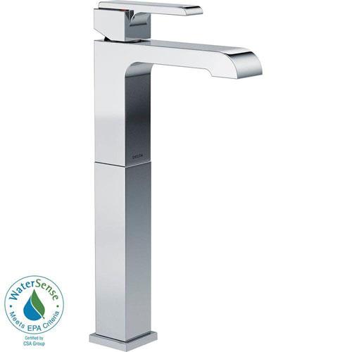 Delta Ara Single Hole 1-Handle Vessel Bathroom Faucet in Chrome 660182