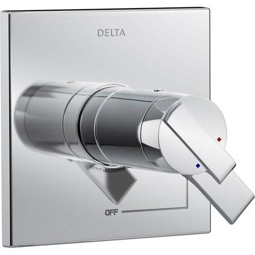 Delta Ara TempAssure 17T Series 1-Handle Volume and Temperature Control Valve Trim Kit in Chrome (Valve Not Included) 660196
