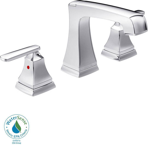 Delta Ashlyn 8 inch Widespread 2-Handle High-Arc Bathroom Faucet in Chrome 685347
