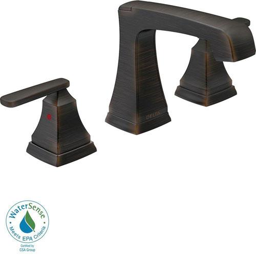 Delta Ashlyn 8 inch Widespread 2-Handle High-Arc Bathroom Faucet in Venetian Bronze 685348