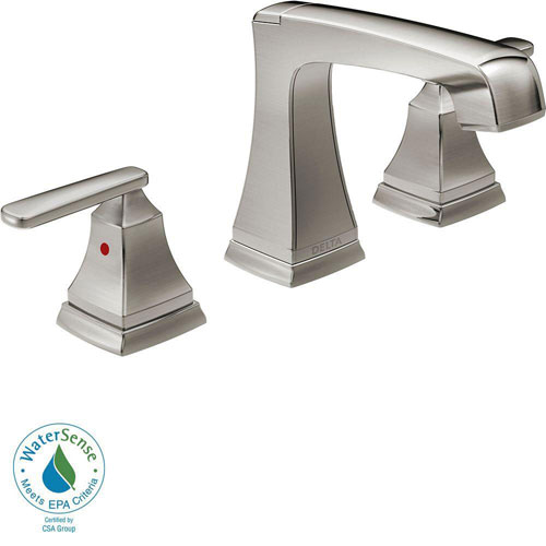 Delta Ashlyn 8 inch Widespread 2-Handle High-Arc Bathroom Faucet in Stainless Steel Finish 685349