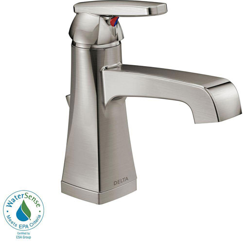 Delta Ashlyn Single Hole 1-Handle High-Arc Bathroom Faucet in Stainless Steel Finish 685352