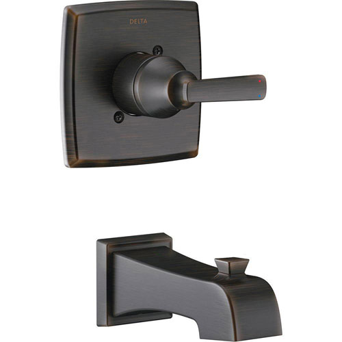 Delta Ashlyn 1-Handle Tub Filler Trim Kit in Venetian Bronze (Valve Not Included) 685373