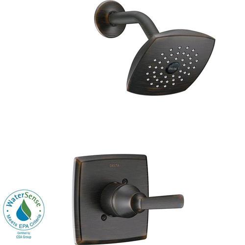 Delta Ashlyn 1-Handle Pressure Balance Shower Faucet Trim Kit in Venetian Bronze (Valve Not Included) 685376