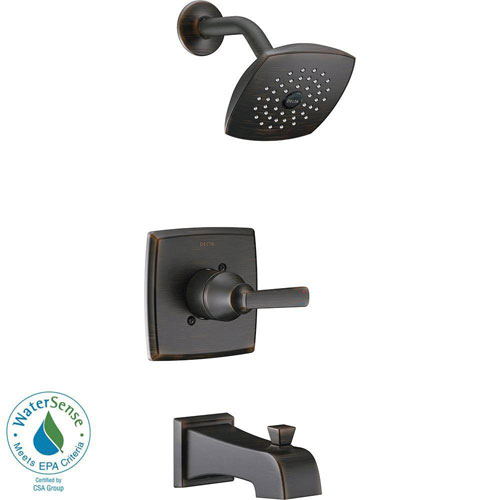 Delta Ashlyn 1-Handle Pressure Balance Tub and Shower Faucet Trim Kit in Venetian Bronze (Valve Not Included) 685379