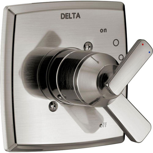 Delta Ashlyn 1-Handle Valve Trim Kit in Stainless Steel Finish (Valve Not Included) 685383