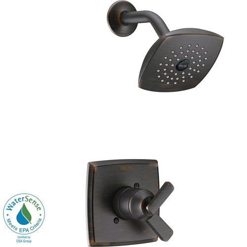 Delta Ashlyn 1-Handle Pressure Balance Shower Faucet Trim Kit in Venetian Bronze (Valve Not Included) 685386